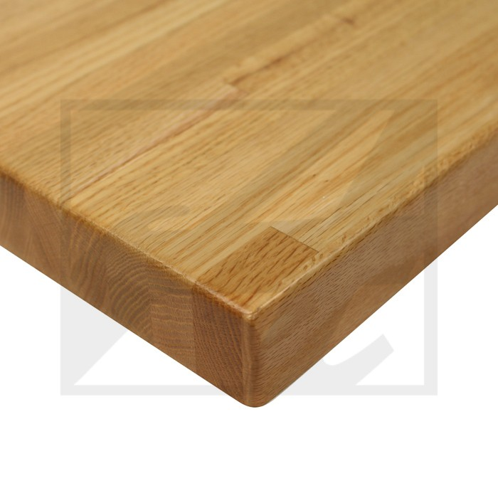 Red Oak Butcher Block With Eased Edge