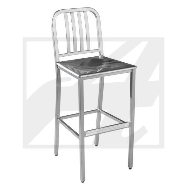 Edison w:Metal Seat Barstool